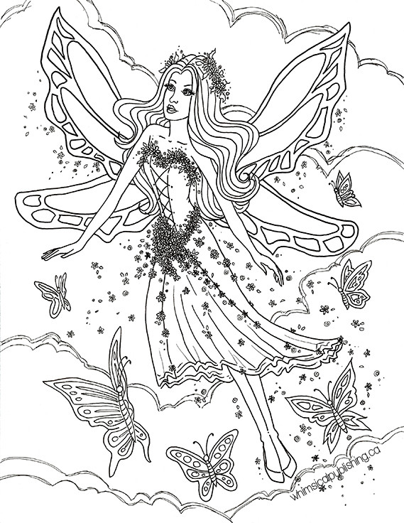 Coloring Pages For Adults Difficult Fairies  Free Colouring Pages