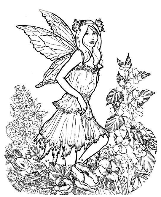 Coloring Pages For Adults Difficult Fairies  155 best images about Faerie Coloring Pages on Pinterest