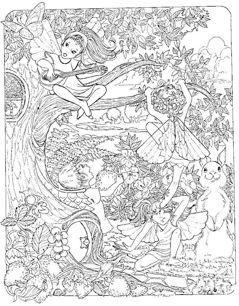 Coloring Pages For Adults Difficult Fairies  Trends For Very Difficult Coloring Pages For Adults