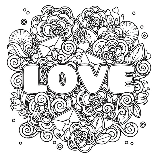 Coloring Pages For Boys Calm  POWER OF LOVE Adult Coloring Book Includes a Calming Music