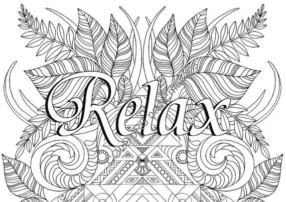 Coloring Pages For Boys Calm  RELAX coloring page adult coloring page by