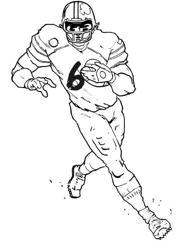 Coloring Pages For Boys Football Players  e of the eleven players from american football team is