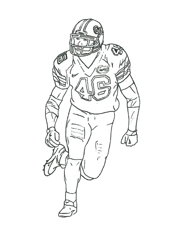 Coloring Pages For Boys Football Players  Nfl Football Players Drawing at GetDrawings