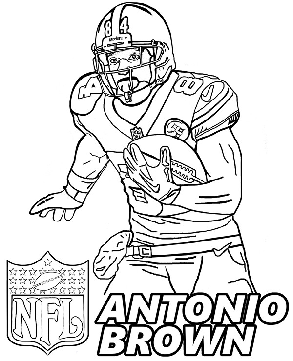 Coloring Pages For Boys Football Players  American Football player coloring pages by