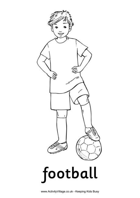 Coloring Pages For Boys Football Players  Football Boy Colouring Page