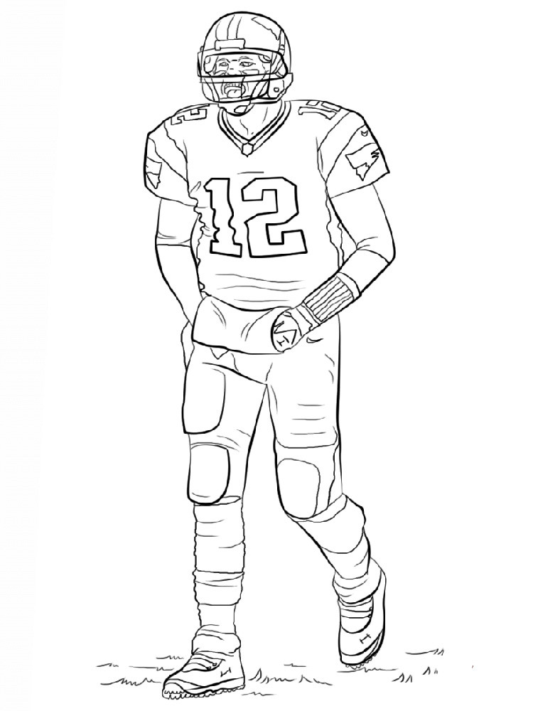 Coloring Pages For Boys Football Players  Football Player coloring pages Free Printable Football