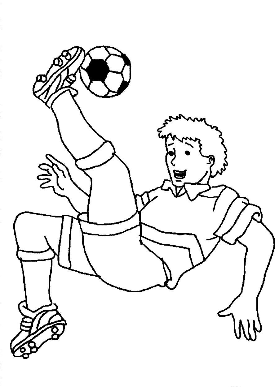 Coloring Pages For Boys Football Players  Free Printable Soccer Coloring Pages For Kids