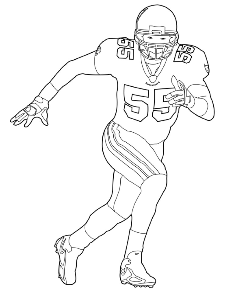 Coloring Pages For Boys Football Players  Get This Football NFL Coloring Pages for Boys Printable