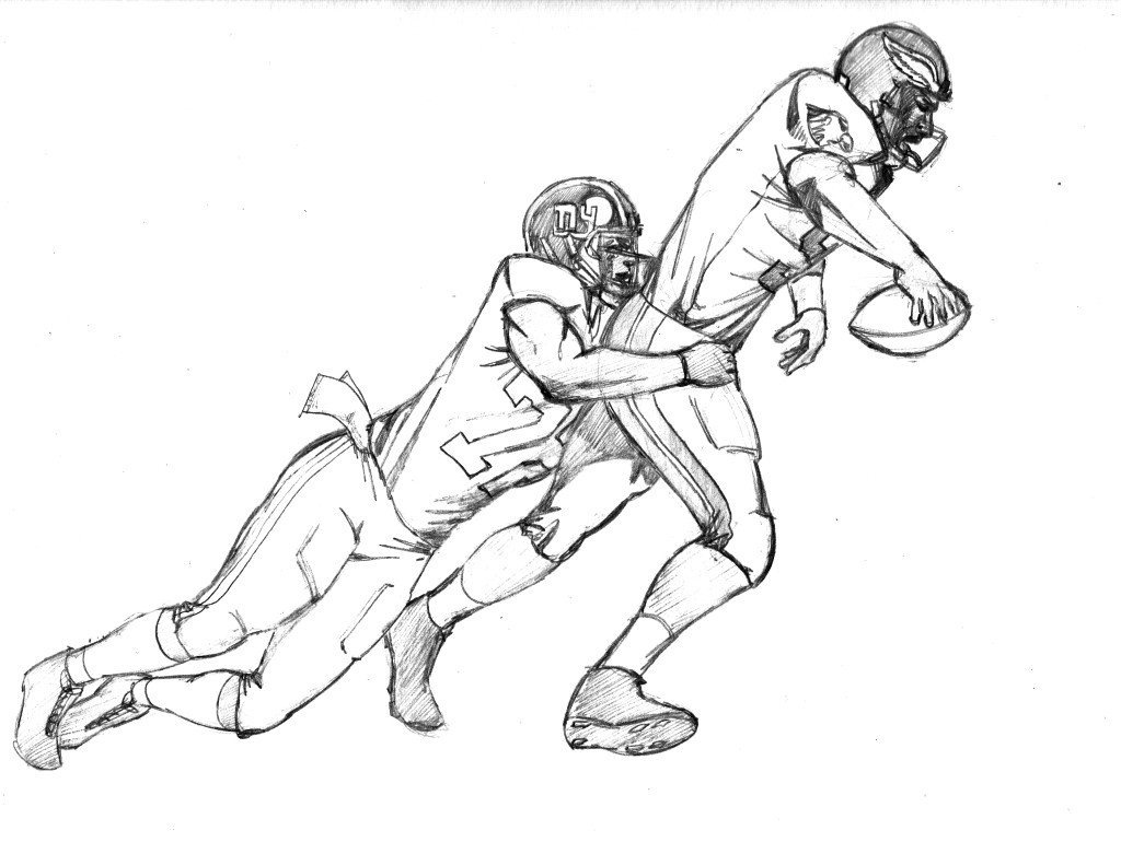 Coloring Pages For Boys Football Players  Football player coloring pages