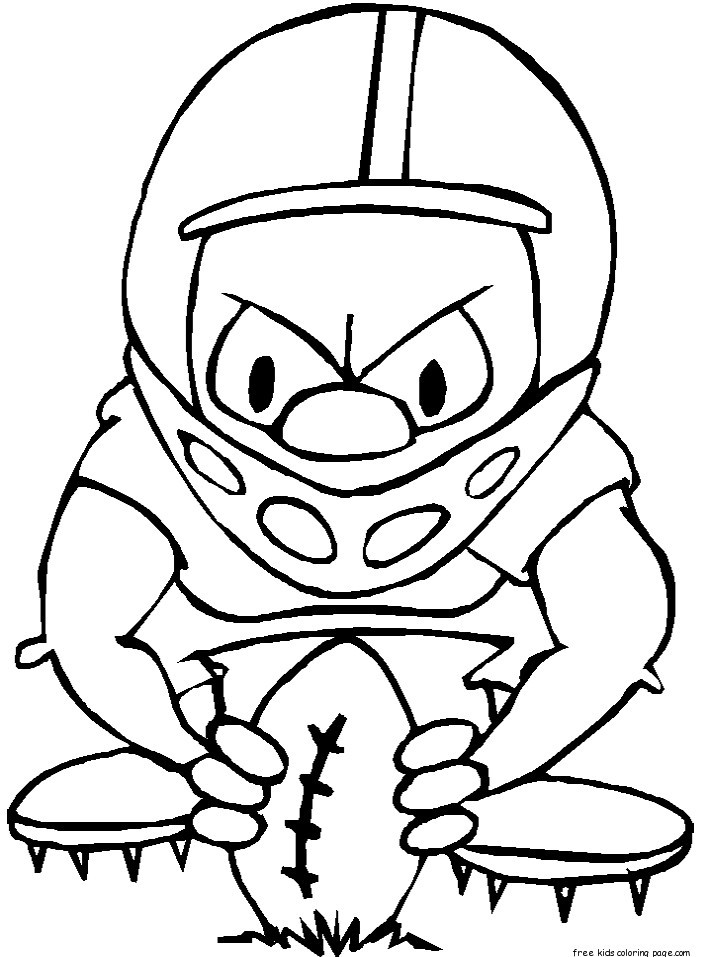 Coloring Pages For Boys Football Players  printable nfl football coloring pages for kidsFree