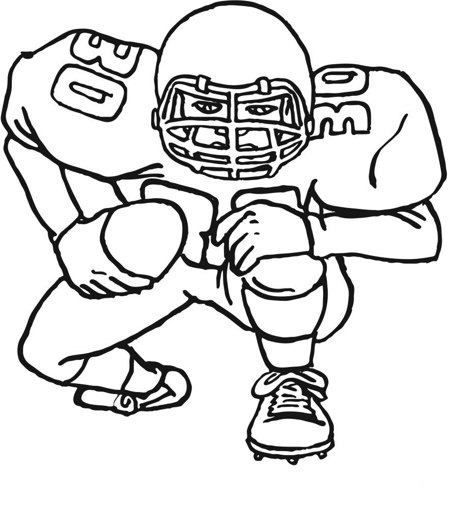 Coloring Pages For Boys Football Players  Free Printable Football Coloring Pages for Kids Best