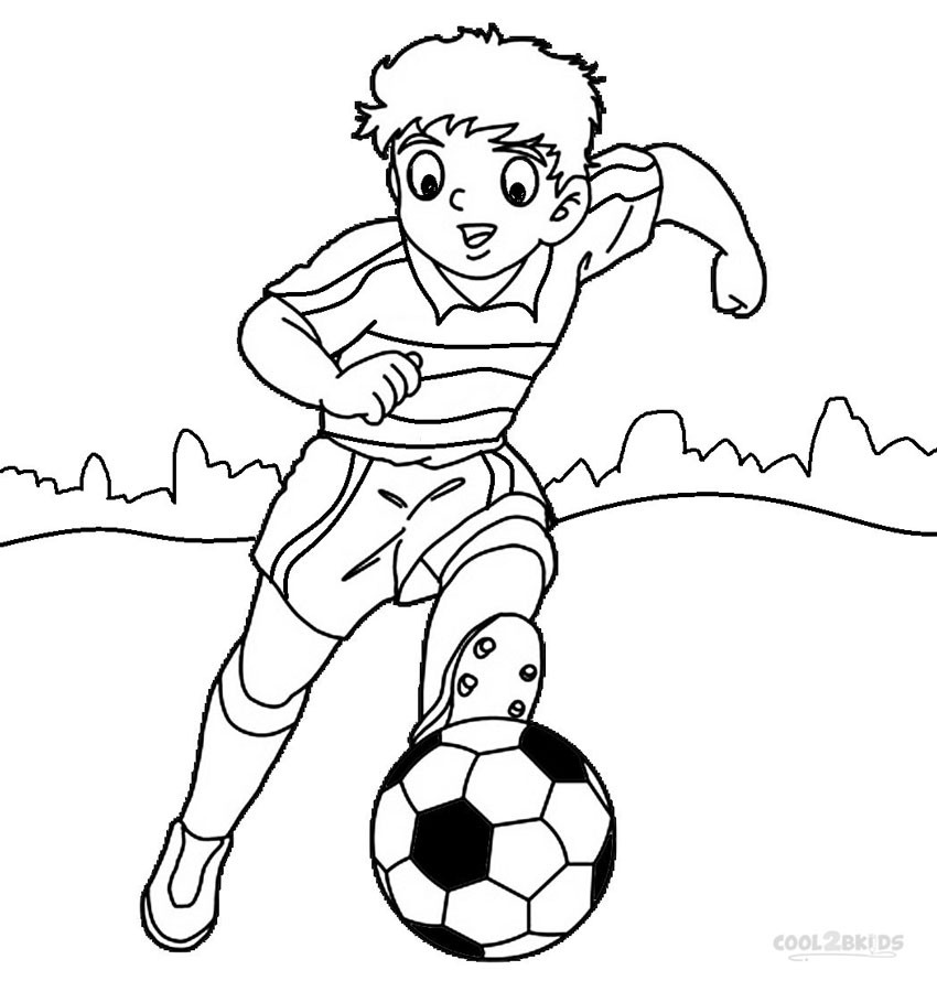Coloring Pages For Boys Football Players  Printable Football Player Coloring Pages For Kids