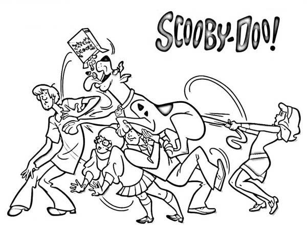 Coloring Pages For Boys Scooby Doo  Meet Scrappy Doo Scooby Doo s Nephew Coloring Page Free