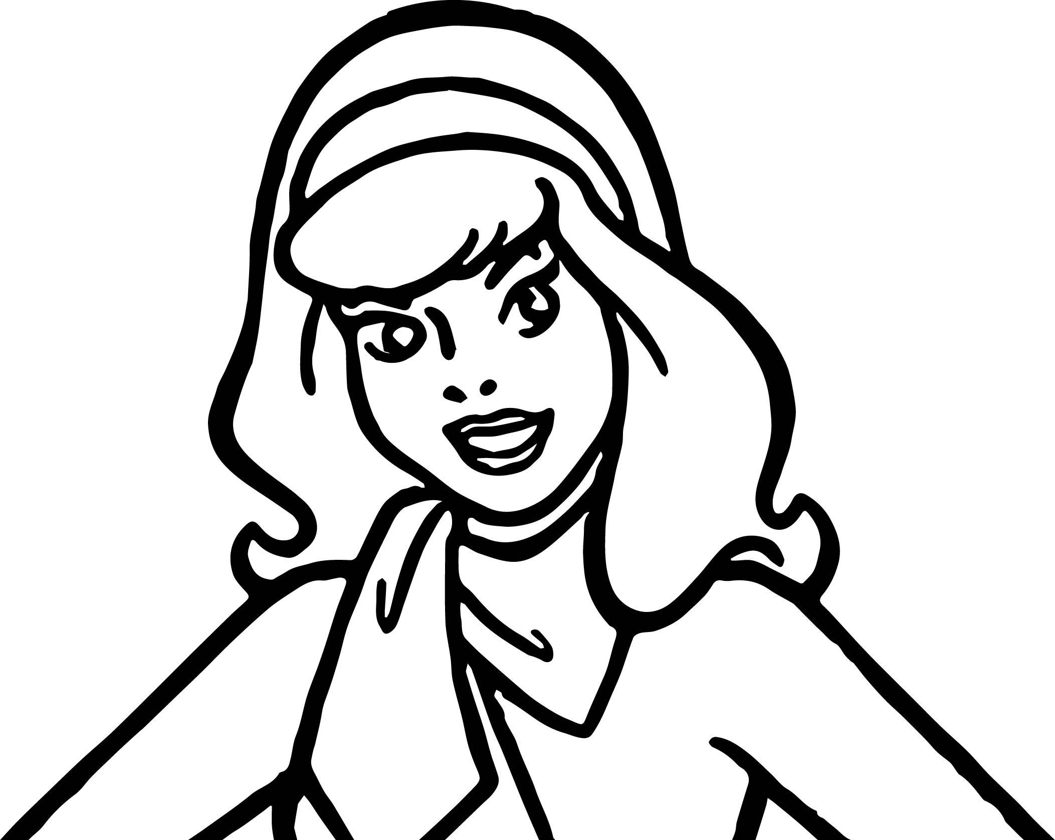 Coloring Pages For Boys Scooby Doo  awesome Daphne Scooby Doo Make Up Coloring Page