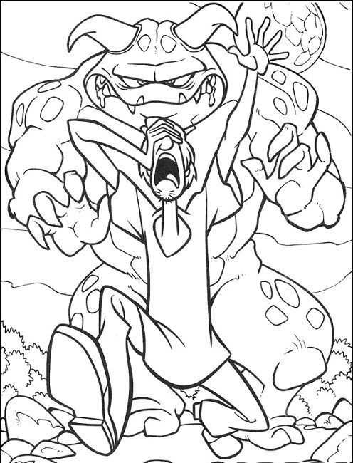 Coloring Pages For Boys Scooby Doo  scooby doo werewolf coloring page Cartoon
