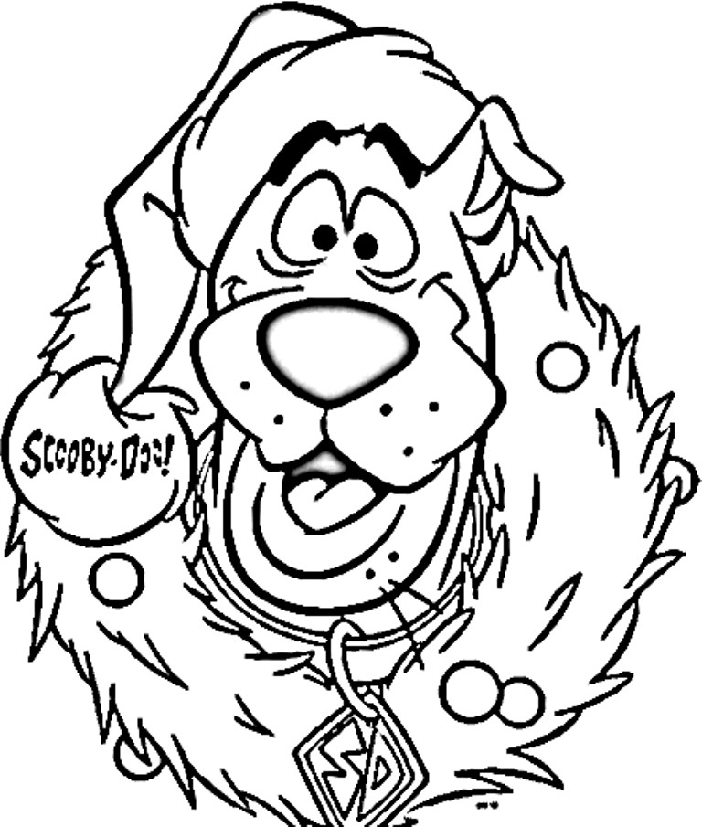 Coloring Pages For Boys Scooby Doo  Scooby Doo Christmas Coloring Pages Coloring Home