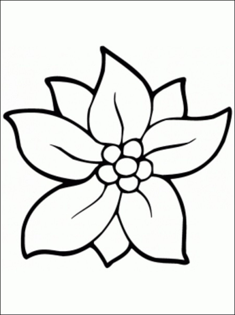 Coloring Pages For Kids Flowers  Flower Coloring Pages coloringsuite