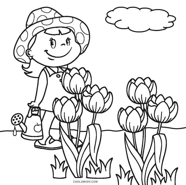Coloring Pages For Kids Flowers  Free Printable Flower Coloring Pages For Kids