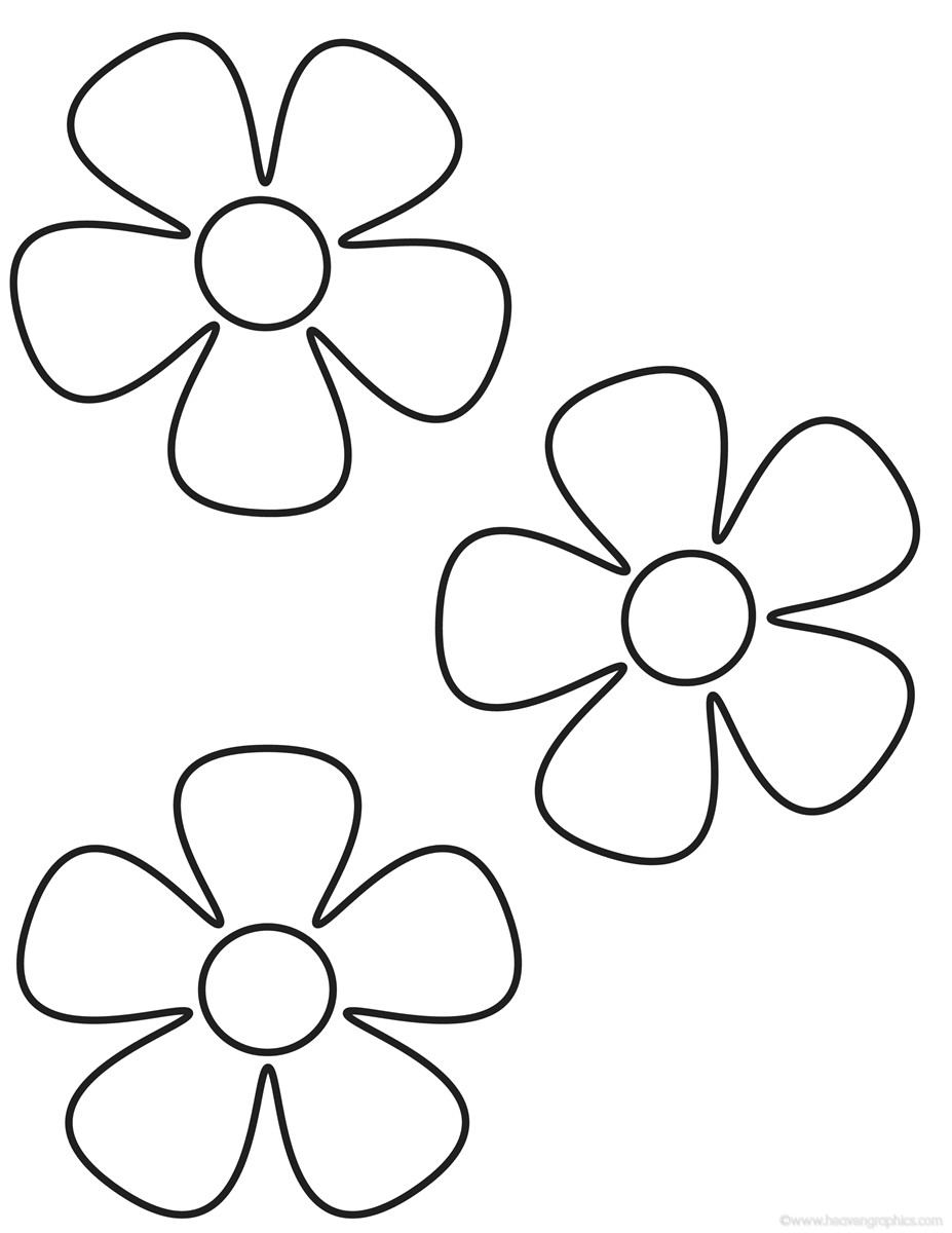 Coloring Pages For Kids Flowers  Flowers Coloring Pages