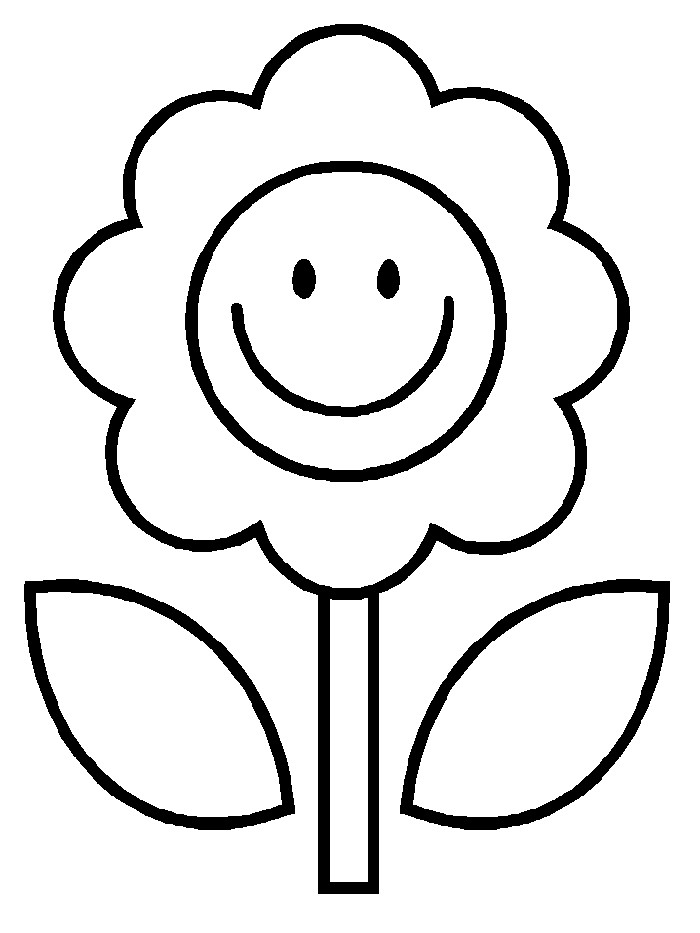 Coloring Pages For Kids Flowers  Free Printable Flower Coloring Pages For Kids Best