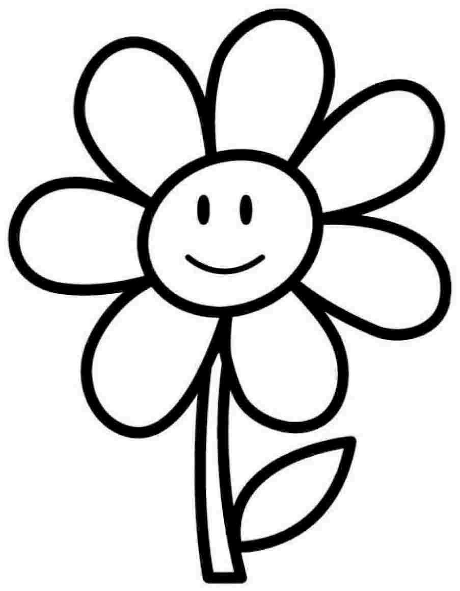 Coloring Pages For Kids Flowers  25 Flower Coloring Pages To Color
