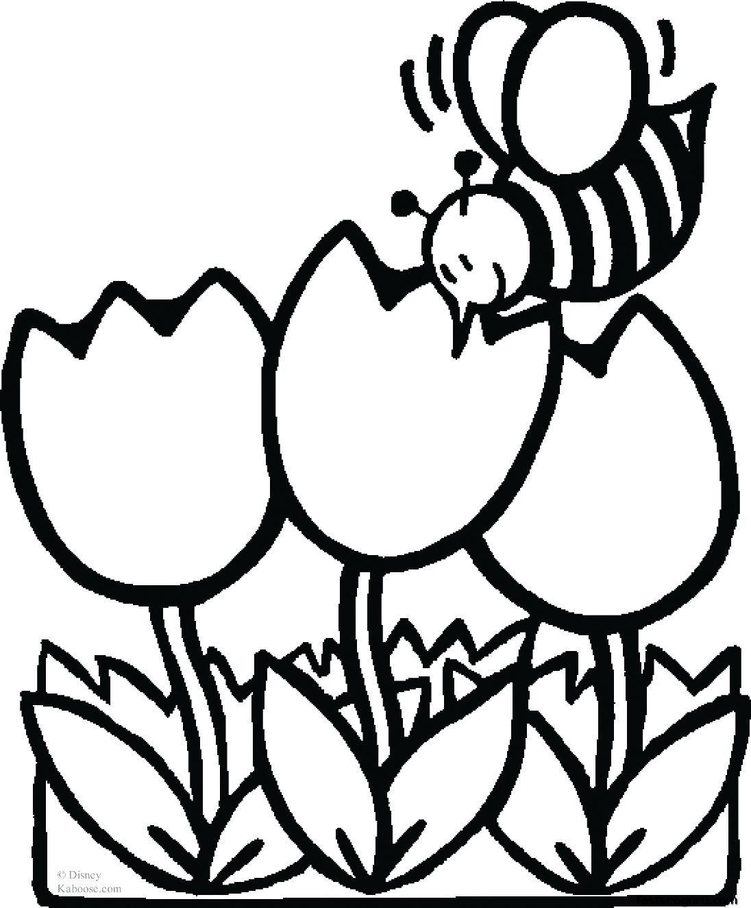 Coloring Pages For Kids Flowers  flower coloring pages