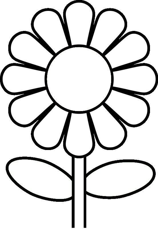 Coloring Pages For Kids Flowers  Free Printable Preschool Coloring Pages