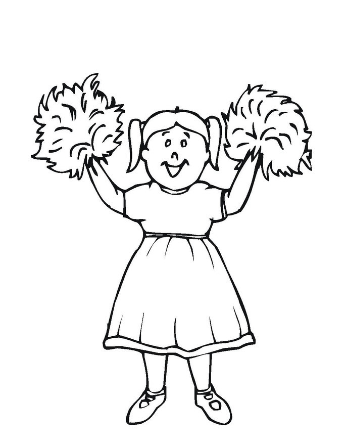 Coloring Pages Girls Cheer  Free Printable Cheerleading Coloring Pages For Kids