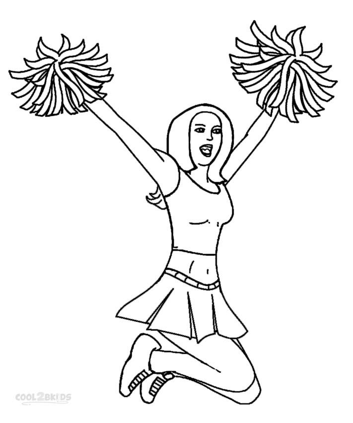 Coloring Pages Girls Cheer  Printable Cheerleading Coloring Pages For Kids
