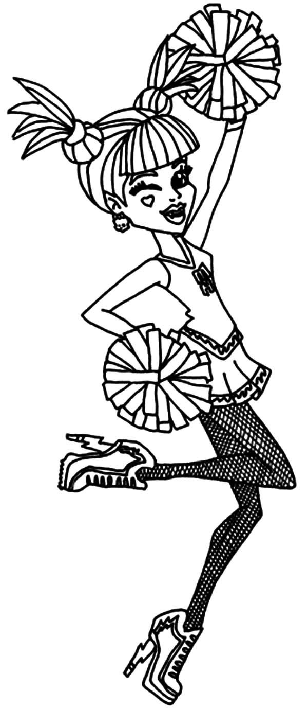 Coloring Pages Girls Cheer  Cheerleading Coloring Pages coloringsuite