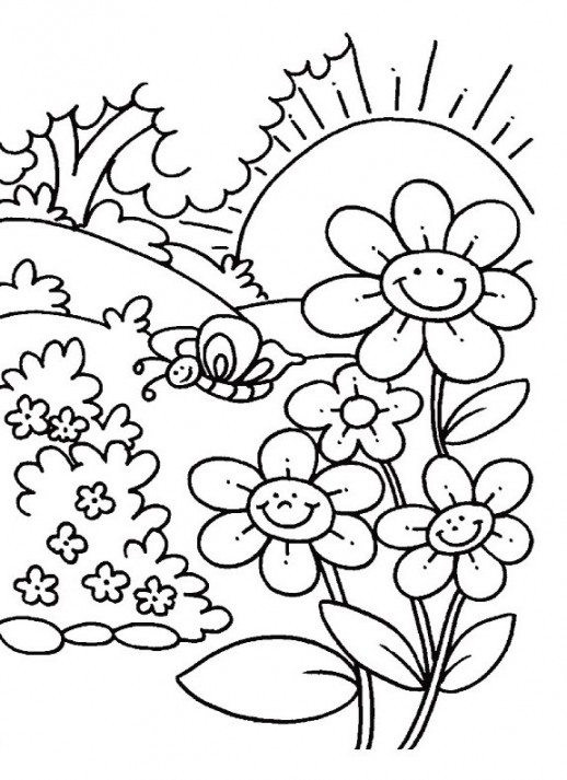 Coloring Pages Of Flowers For Kids  Flower Child Coloring Pages Flowers Coloring Pages For
