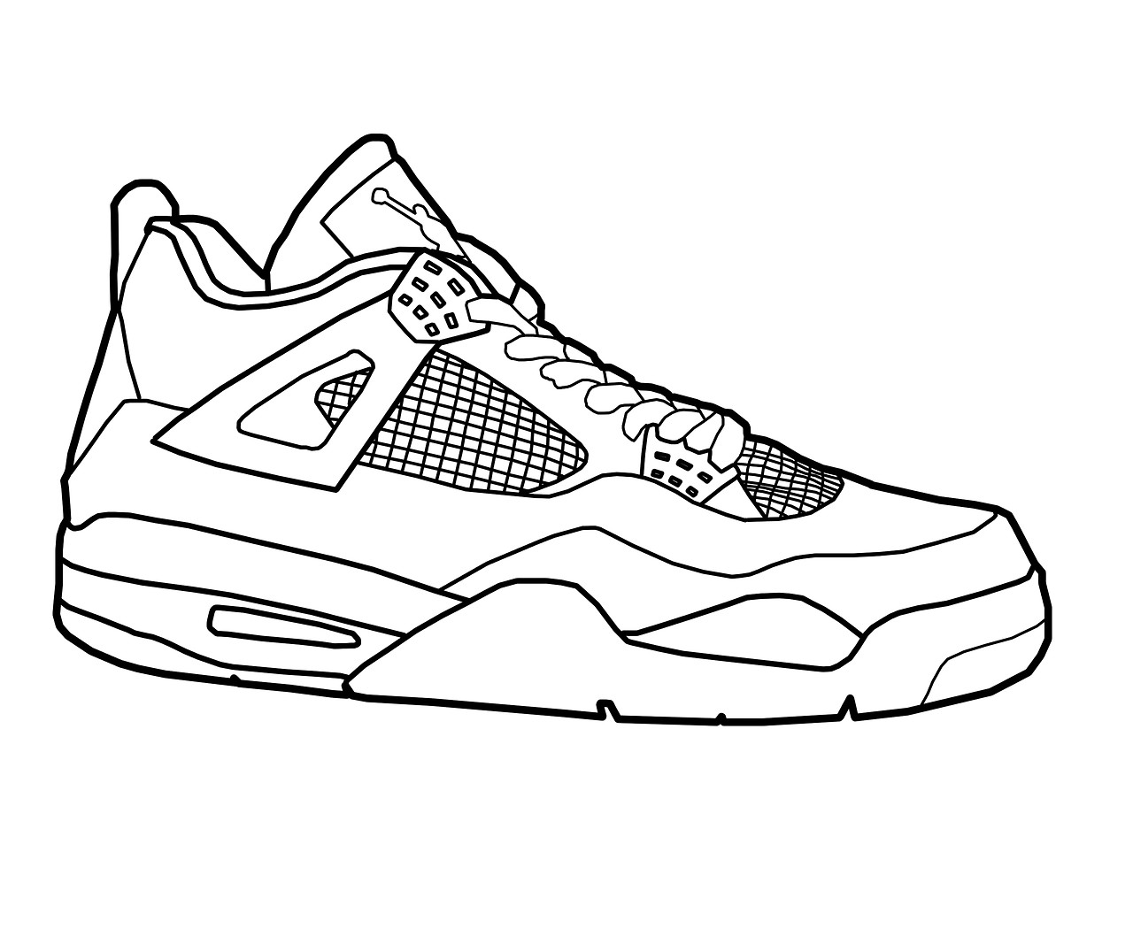 Coloring Pages Of Shoes  Jordan Shoes Coloring Pages Coloring Home