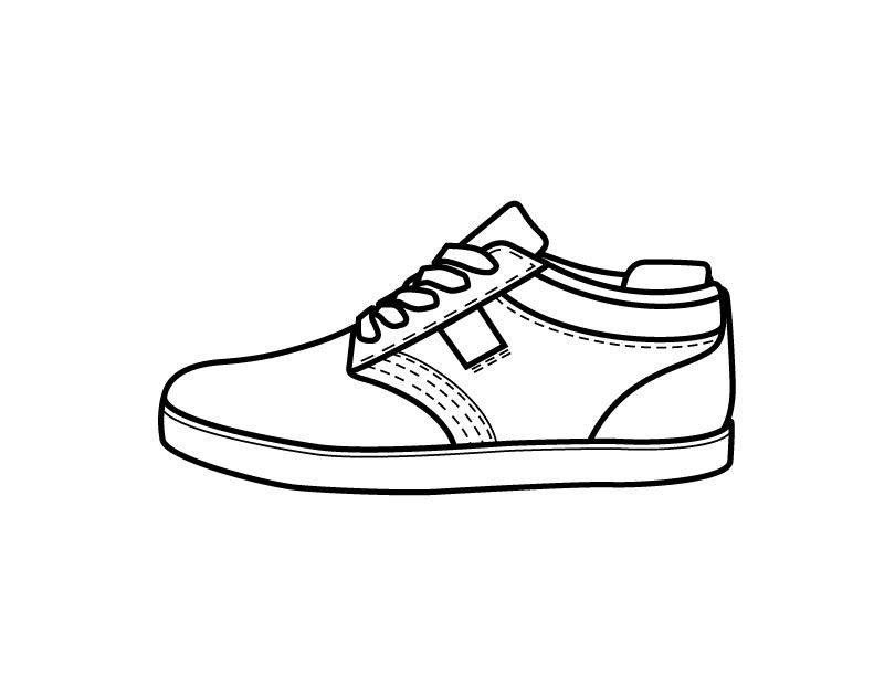 Coloring Pages Of Shoes  Printable Shoe coloring page from FreshColoring