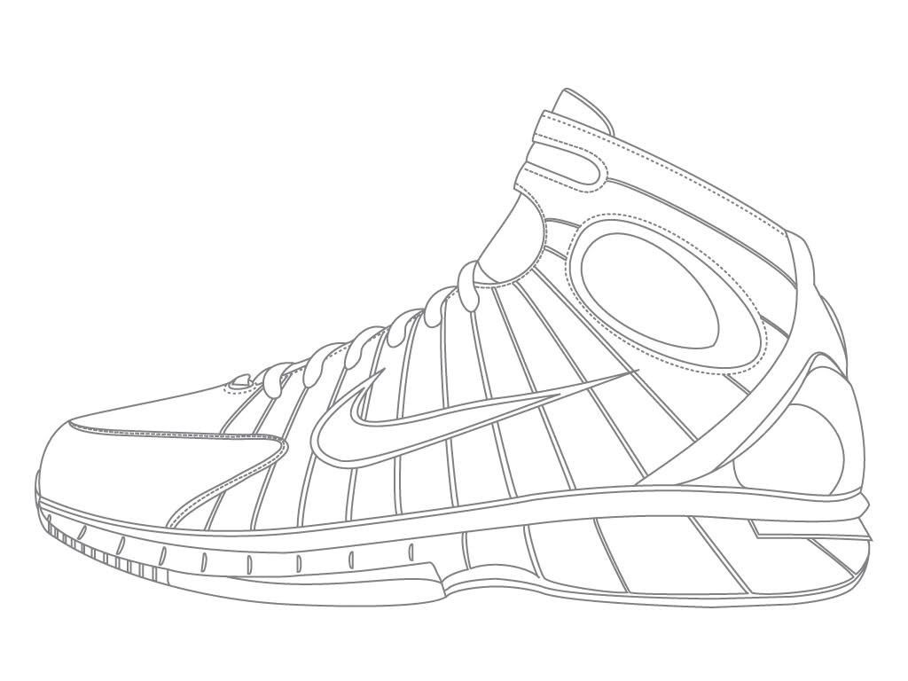 Coloring Pages Of Shoes  Jordan Shoe Coloring Pages Coloring Home