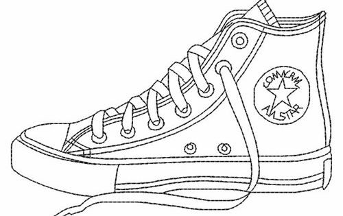Coloring Pages Of Shoes  Converse shoes coloring pages printable Enjoy Coloring