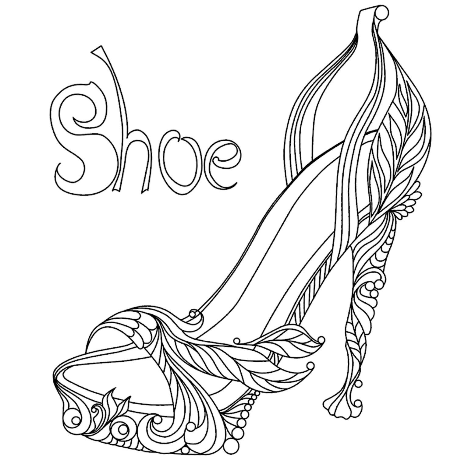 Coloring Pages Of Shoes  Shoe coloring page