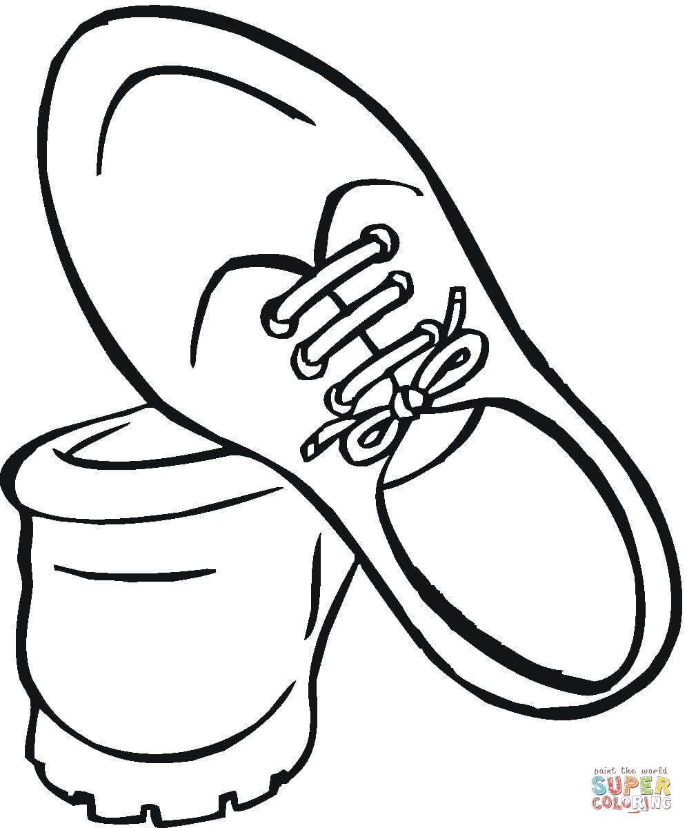 Coloring Pages Of Shoes  Shoes For Men coloring page