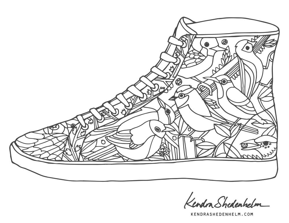 Coloring Pages Of Shoes  The coolest free coloring pages for adults