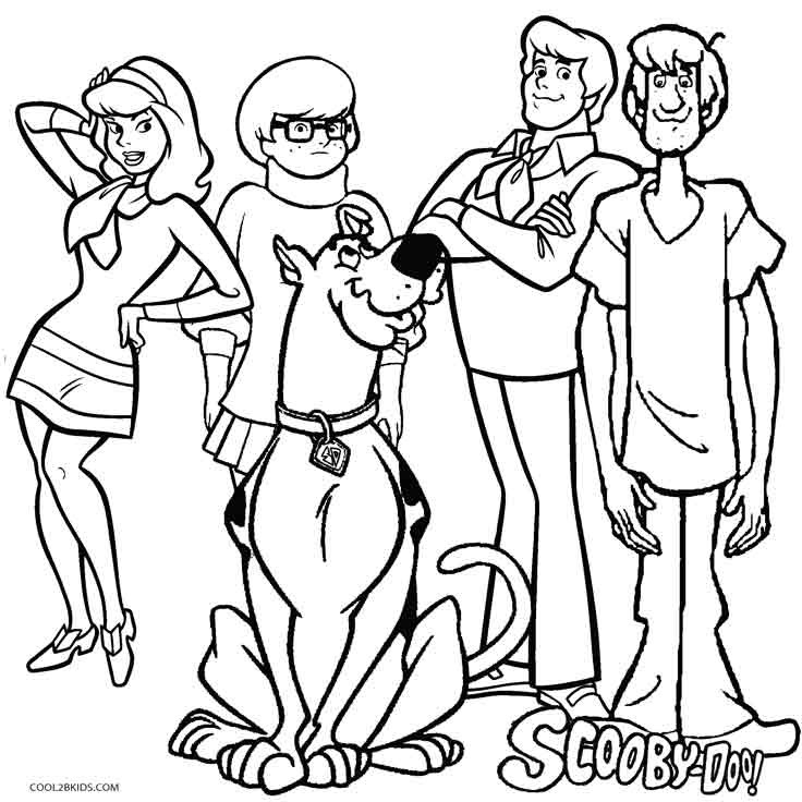 Coloring Sheets For Boys Scooby Doo  Printable Scooby Doo Coloring Pages For Kids
