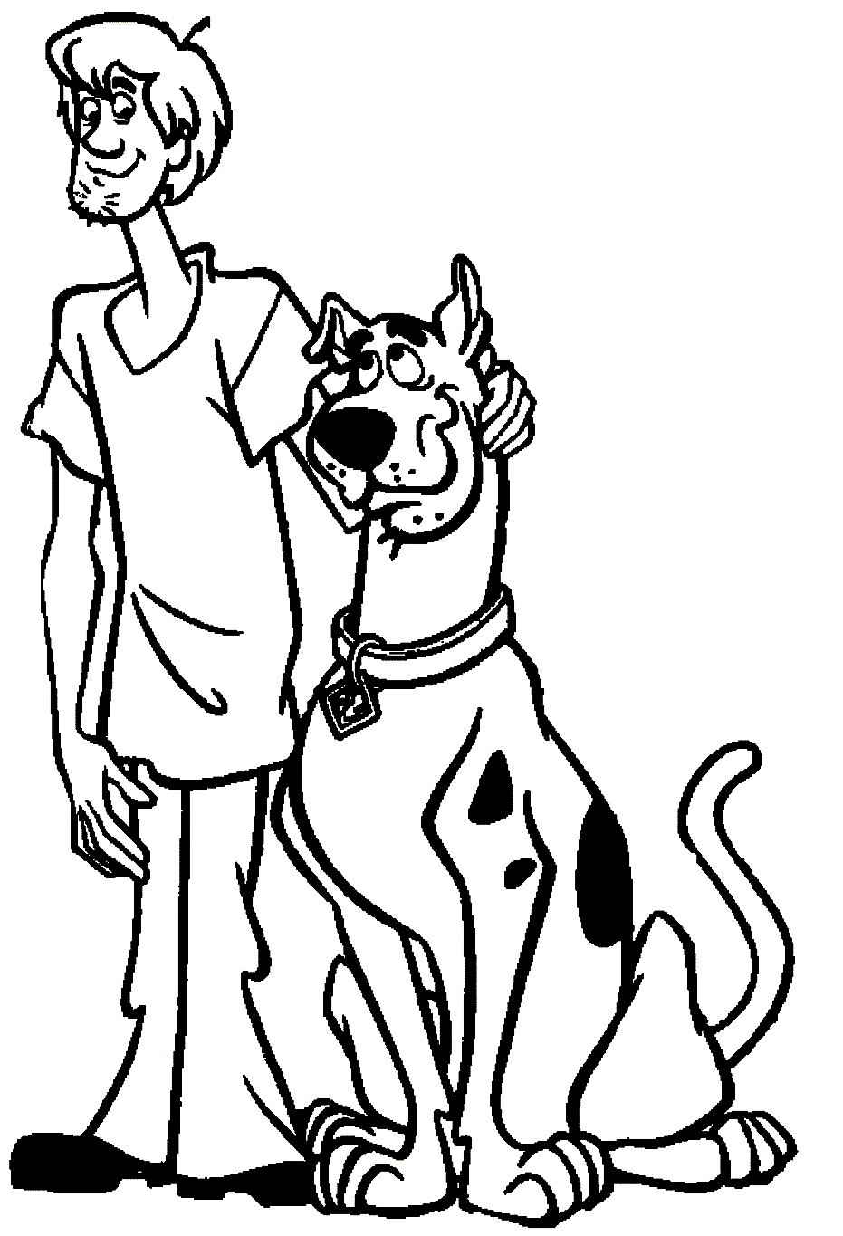 Coloring Sheets For Boys Scooby Doo  Scooby Doo Printable Coloring Pages