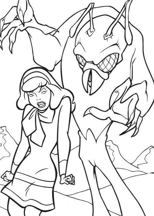 Coloring Sheets For Boys Scooby Doo  Scooby Doo Coloring Pages Daphne And Monster For Halloween