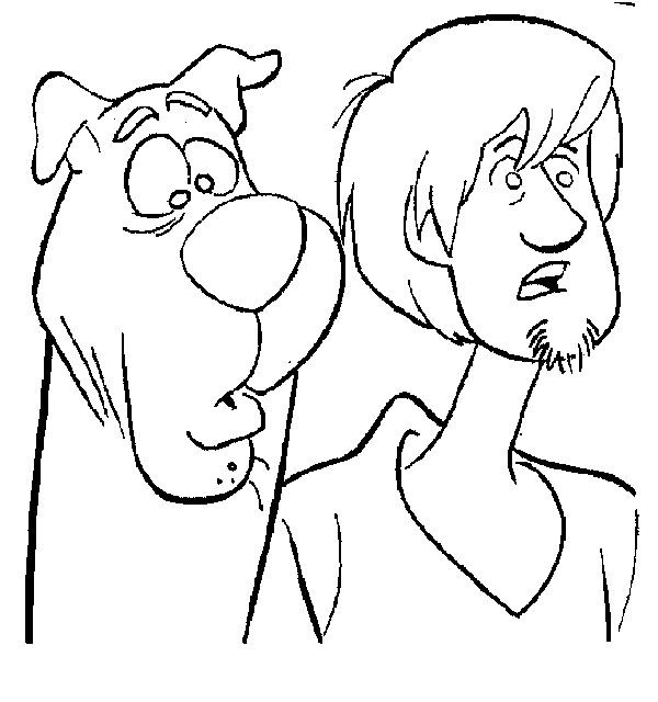 Coloring Sheets For Boys Scooby Doo  Scooby Doo and Shaggy A coloring book page but I