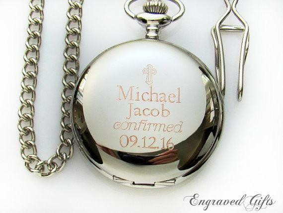 Confirmation Gift Ideas For Boys  Engraveable Pocket Watch Confirmation Gift for by
