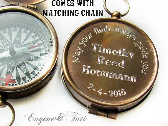 Confirmation Gift Ideas For Boys  Baptism Gift Engraved pass Baptism Gift Boy Confirmation