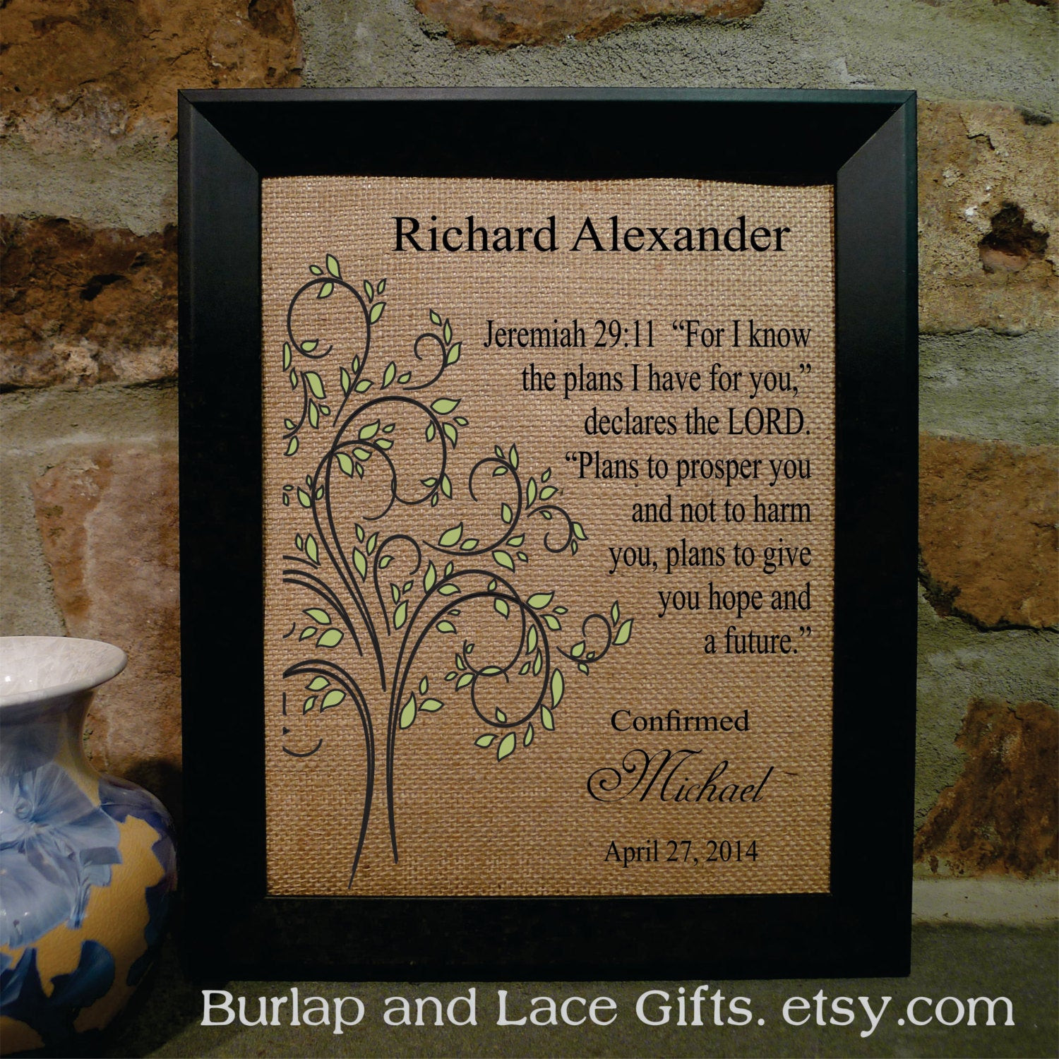 Confirmation Gift Ideas For Boys  Boy s Confirmation Gift Religious Framed by BurlapandLaceGifts
