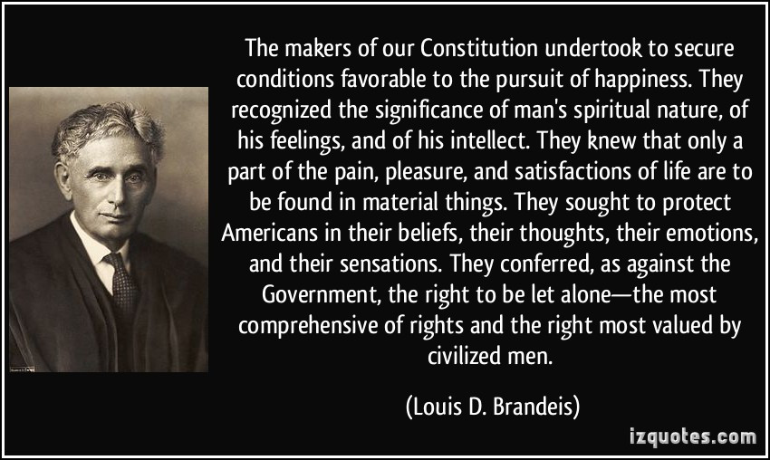 Constitution Life Liberty And Pursuit Of Happiness Quote  The makers of our Constitution undertook to secure
