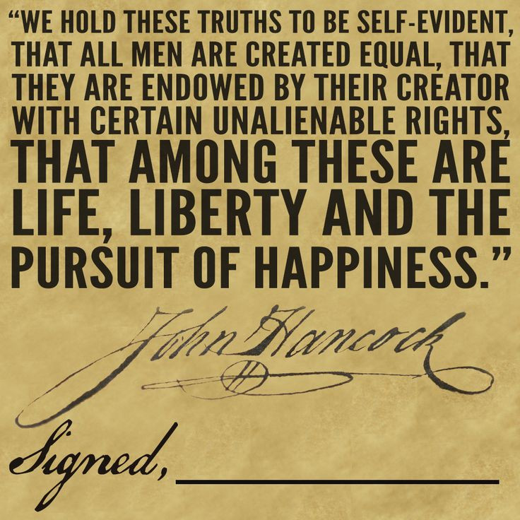 Constitution Life Liberty And Pursuit Of Happiness Quote  Independence Day Retaining Hope in the Power of the