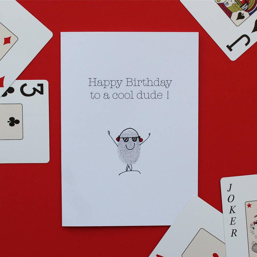Cool Birthday Card  cool dude birthday card by adam regester design