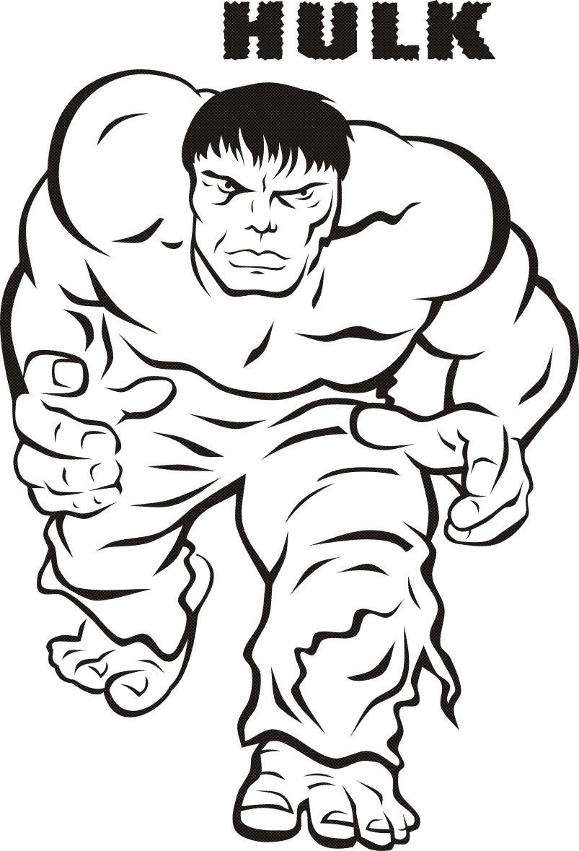 Cool Coloring Sheets Printable For Boys  Hulk Super héros – Coloriages à imprimer