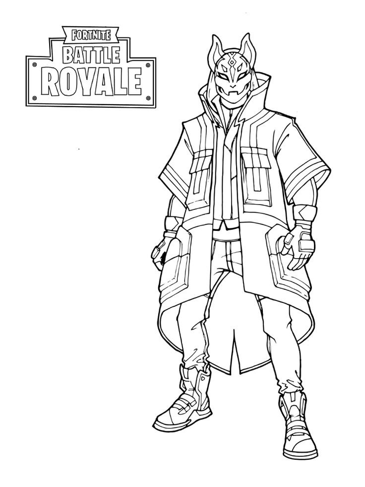 Cool Coloring Sheets Printable For Boys  Free Printable Fortnite Coloring Sheets